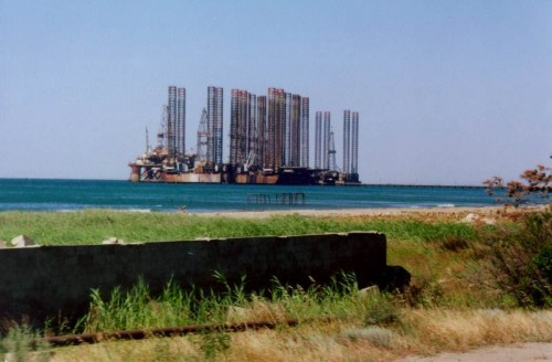 OIl Platform in Caspian