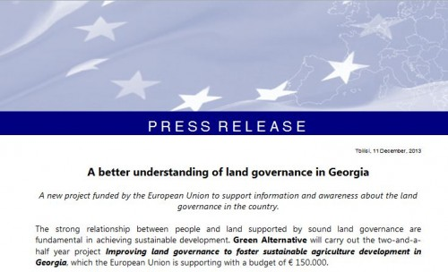 A better understanding of land governance in Georgia