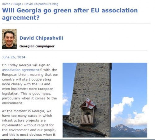 Will Georgia go green after EU association agreement?