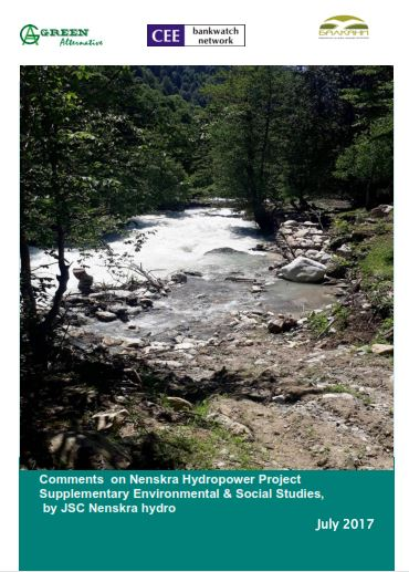 Comments  on Nenskra Hydropower Project Supplementary Environmental & Social Studies,  by JSC Nenskra hydro