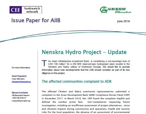 Nenskra Hydro Project – Update